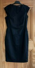 NEXT Navy Blue Tailored Woven Work Business Dress Regular Petite Tall Size 6 -16