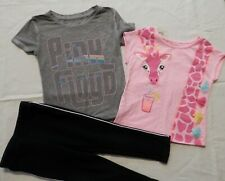 Toddler Girl's Clothing Lot (3 pieces) size 3T - Pink Floyd T-shirt, Sweatpants