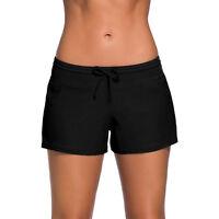 Plus Size Women Full Coverage Swim Board Shorts Drawstring Swimwear Stretchy US
