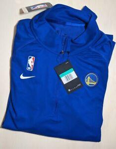 NBA Issued Nike Golden State Warriors Dri Fit 1/4 Zip LS Women's XL RARE AV1916