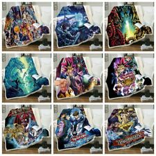 Anime Yu-Gi-Oh 3D Print Sherpa Blanket Sofa Bedroom Quilt Cover Throw R102