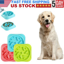 New ListingLarge Pet Bowl Dog Cat Interactive Slow Food Feeder Healthy Feed Dish 2 colors