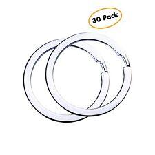 Flat Key Rings Key Chain Metal Split Ring 30pcs (Round 1.25 Inch Diameter), f.