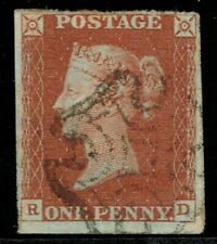 1841 1d Red Pl 42 RD 4m Maltese Cross Scarce Plate With MX VFU Cat. £150.00