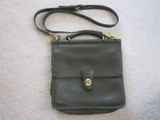 COACH LODEN GREEN WILLIS Leather Crossbody Messenger Purse Bag Handle 9927 VGC!