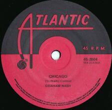 Graham Nash ORIG OZ 45 Chicago VG+ '71 Atlantic 45-2804 Folk Rock Hollies