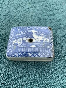Antique Chinese blue and white porcelain incense burner