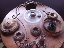 New listing Vintagemetal, Brass Hanging Oil Lamp Frame Fixture Harp For Parts Or Repair