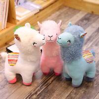 "10"" Alpaca Llama Plush Toy Super Soft Stuffed Animal Cute Doll Gifts 4 colors"