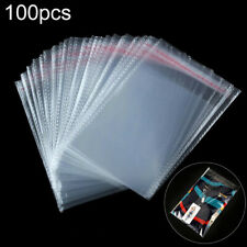 100Pcs Clear Self Adhesive Resealable Poly Cello Cellophane OPP Bags