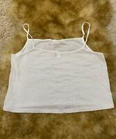 Gio &  Gio white sparks  100% cotton Camisole Top sleepwear nightwear size L