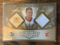 JAROME IGINLA LUC ROBITALLE JERSEY Swatch CARDS La Kings Calgary Flames