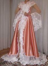 Vtg satin nylon lingerie nightgown long full sweep robe negligee 1X-3X