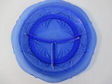 Royal Lace Grill Plate Depression Glass Hazel Atlas Blue Mint Antique 10 #N0552