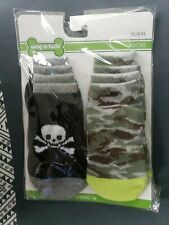 NEW Package of Wag-a-tude Dog Socks Size XL/XXL Crossbone & Camo - 2 Sets of 4!
