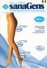 Sanagens Collant Calze CLASSIC 140 den compressione graduata maglia doppia rete