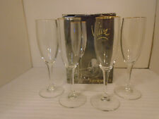 4-pc Luminarc Viva 6 Oz Crystal Gold Rim Wine Glasses