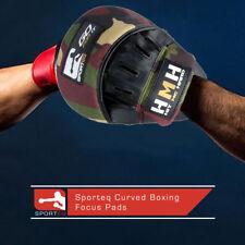 Focus Pads Hook & Jab Mitts Kick Boxing MMA Strike Punch Bag Black/Camo NEW