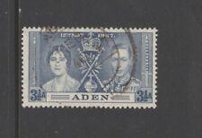 ADEN SG15 1937 CORONATION  3 1/2 a BLUE - Fine Used