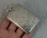 1914 English Silver Purse Calling Card Stamp Holder Piece