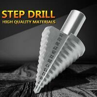 5-35mm Titanium 13Step Spiral Groove Conical Cone Drill Hole HSS Set Bit B8X3