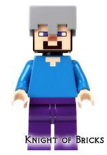 LEGO Minecraft  Minifigure Steve with Helmet from set 21121 21125 21141