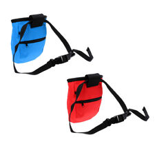 2x Chalk Bags for Bouldering Rock Climbing Gym with Rear Zip and Waist Belt