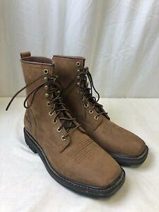 "Ariat Cascade 8"" Wide Square Toe Men's Work Boots Alamo Brown Size 8.5 D"