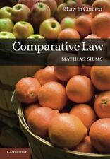 Comparative Law (Law in Context), Siems, Mathias, Very Good condition, Book