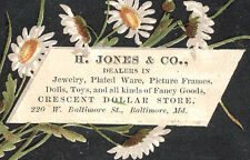 BALTIMORE MD TRADE CARD, CRESCENT DOLLAR STORE at 220 W. BALTIMORE ST,  TTC270