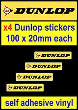 4 Dunlop tyres sponsor stickers Racing Car Motorcycle gp van truck laptop decals