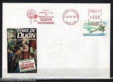 1989-ENVELOPPE-FDC 1°JOUR - FOIRE DE DIJON - GARROS-AVIATEUR - TIMBRE Yt. 2544