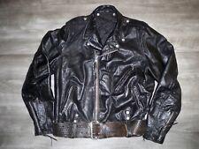Vtg SCHOTT Perfecto? One Star Steerhide Rider Chopper Jacket Size 46 Tall Men's