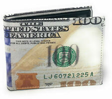 USA 100 Dollar Print Men's Leather Bifold Novelty Wallet