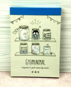 Crux Gyumunimal Mini Memo Pad Stationery Japan Kawaii Animals