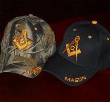 Two Mason Hats 2 Masonic Freemasonry Lodge Ball Caps Free Mason Cap M1x2 CAMBK m