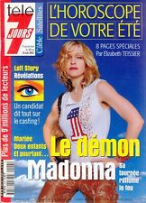 MADONNA on Cover & Within French TELE 7 JOURS Magazine, June 2001. Free WW Post
