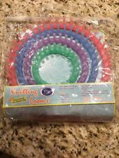 """4 Knitting Looms By Classic Knit, 11 1/2 , 9 1/2, 7 1/2, And 5 1/2"""" With Pick"""