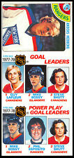 1978-79 OPC O PEE CHEE  3 CARD UNCUT SHEET NM #25 #63 #67 MIKE BOSSY GUY LAFLEUR