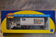 Athearn #93420 Usps Tractor & 28' Pup Trailer Maryland - New