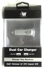 Just Wireless - Vehicle Charger Dual Usb Port (3.4 amps, Usb-A) Slate Gray