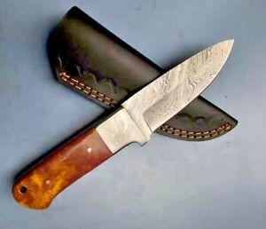 MH KNIVES CUSTOM HANDMADE DAMASCUS STEEL FULL TANG HUNTING/SKINNER KNIFE MH-318