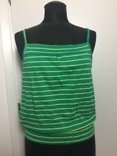 Green And Yellow Square Neck Cotton Vest BNWT size 12-14