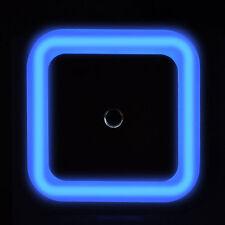 1x Blue Plug In Automatic Dusk Dawn Sensor LED Night Light, Child Room Nursery