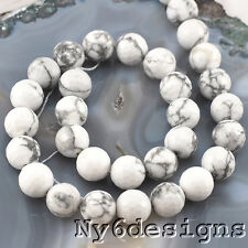 """Ny6design 12x12mm Howlite Faceted Round Beads 15"""" (TU592)c"""