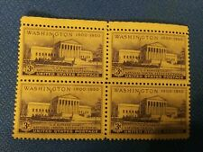 Scott #991 Uncancelled Plate Block 3 Cent 150th Anniversary Of Washington DC