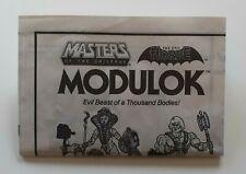 MOTU Masters of the Universe Modulok Instructions Malaysia Mattel 1985