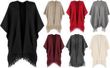 Acrylic Regular Size Cape Coats & Jackets for Women