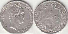 Monnaie Française 5 francs argent Louis Philippe I 1831 M