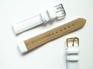 White High Quality Men's Ladies Genuine Soft Leather Watch Band Strap 6mm-24mm